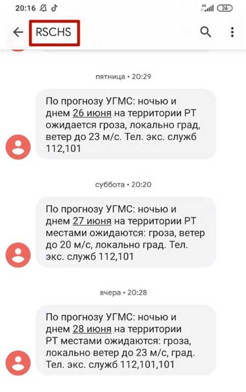 RSCHS пришло СМС: что это такое, кто рассылает