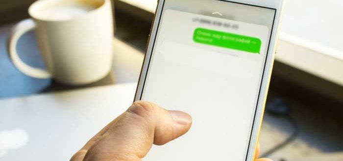 Входящее СМС на смартфоне