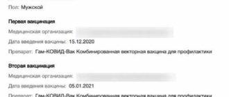 сертификат о прививки с QR-кодом